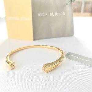 NWT MK 14k gold over sterling silver cuff bracelet